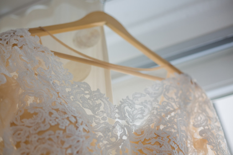 Brautkleid Detail Spitze Polnisch