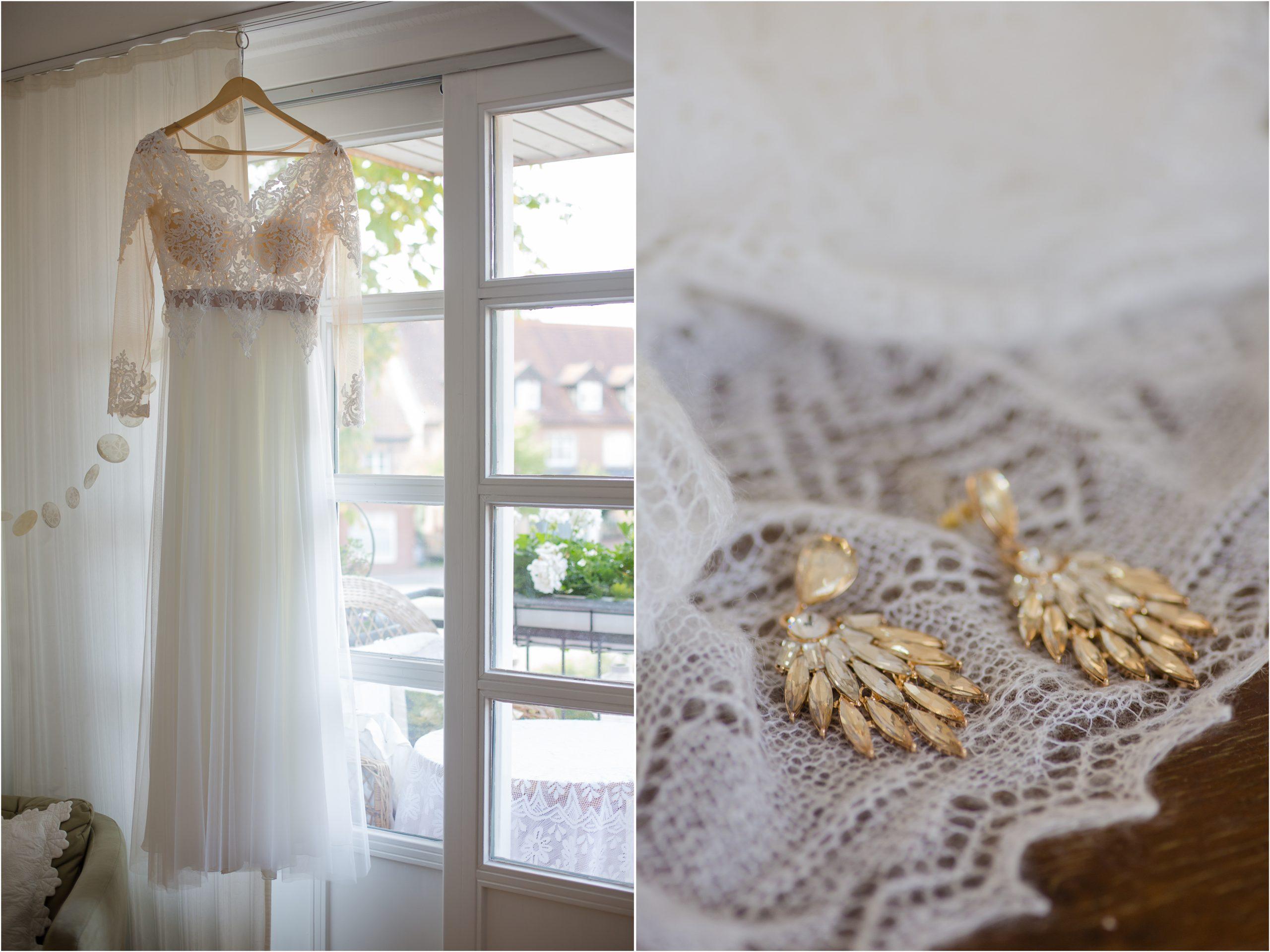 Hochzeitskleid mit Spitze Farbkonzept