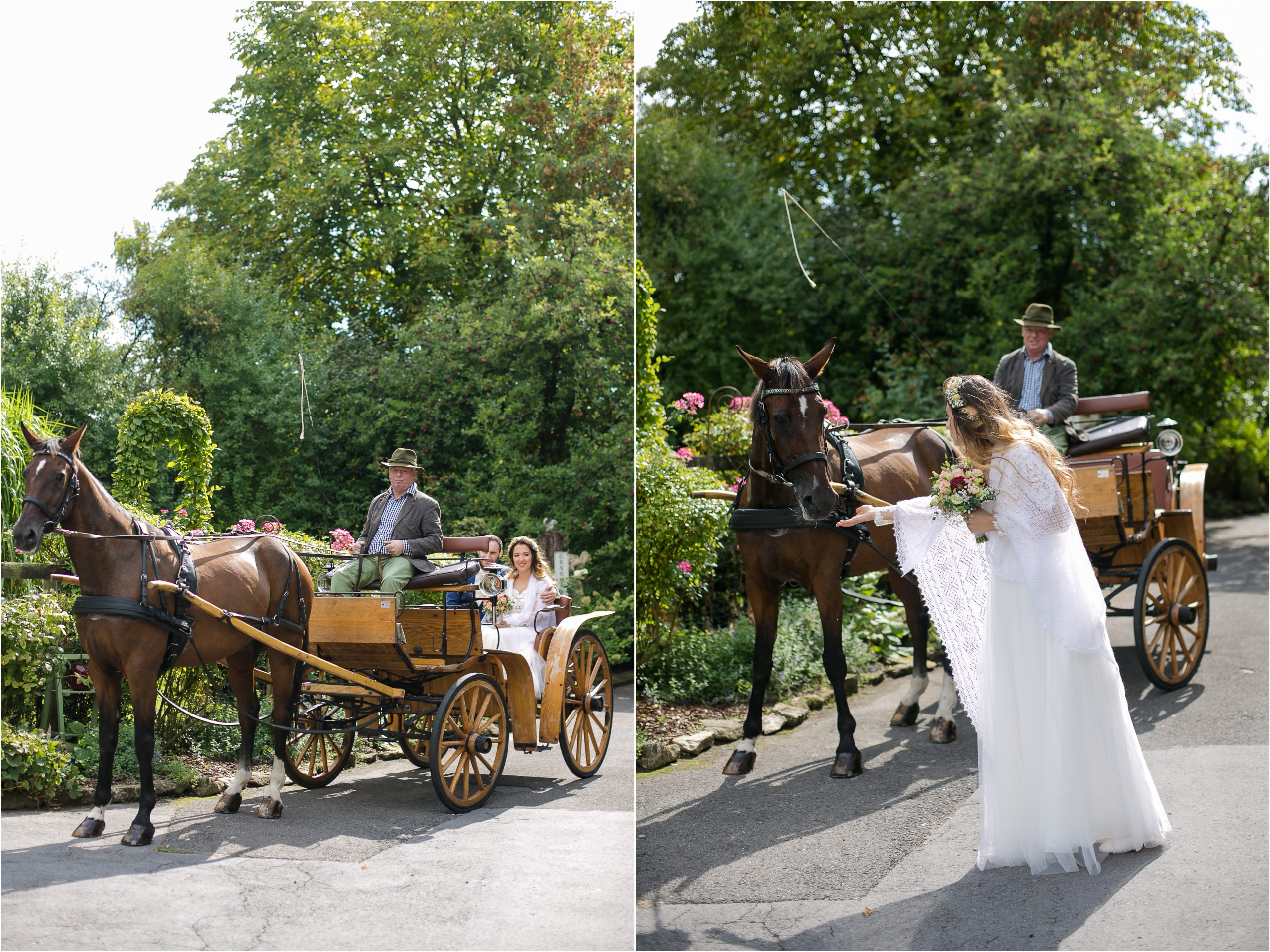 Hochzeitskutsche Nottuln Foto