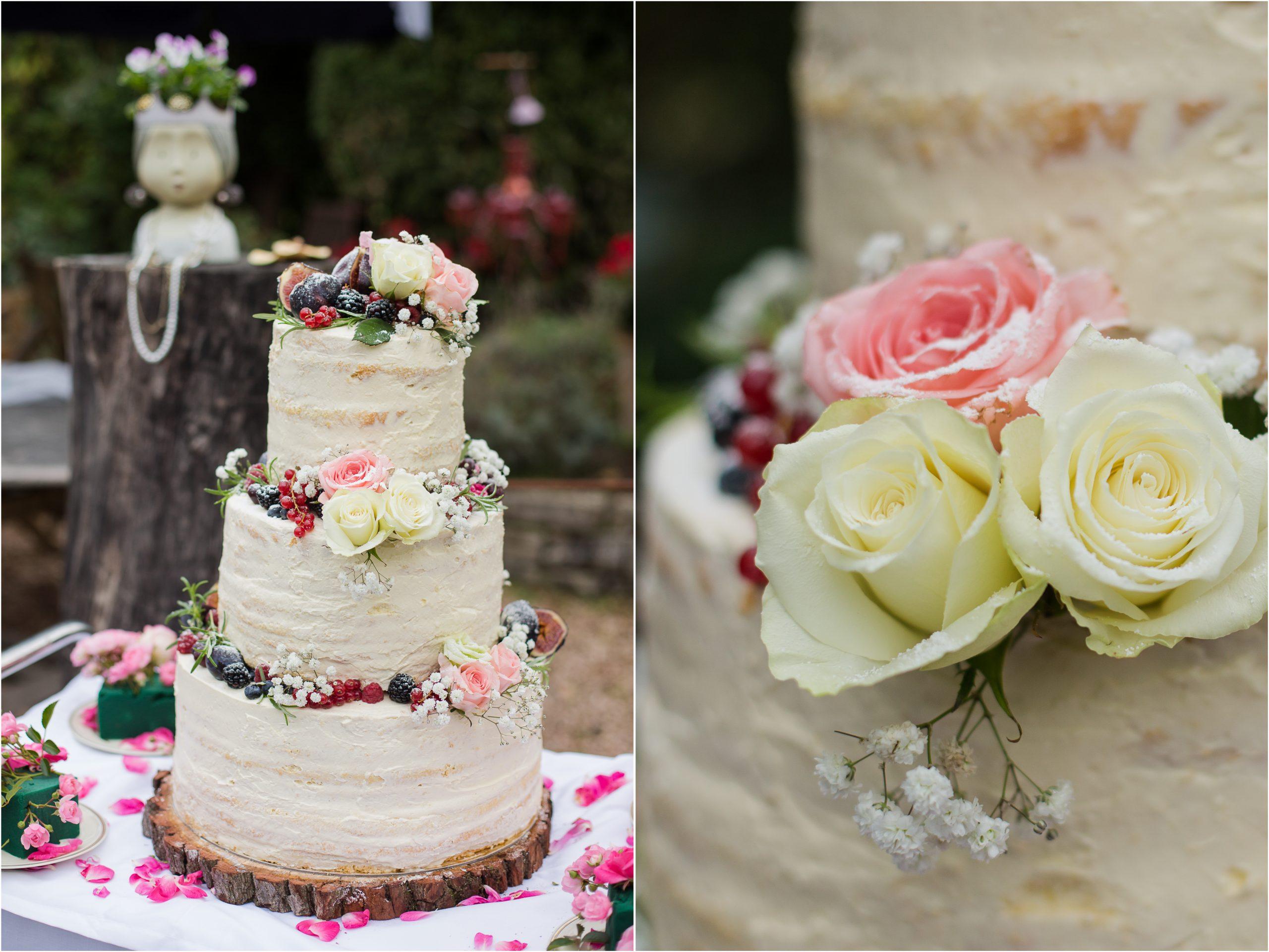 Hochzeitstorte im Farbkonzept Apricot