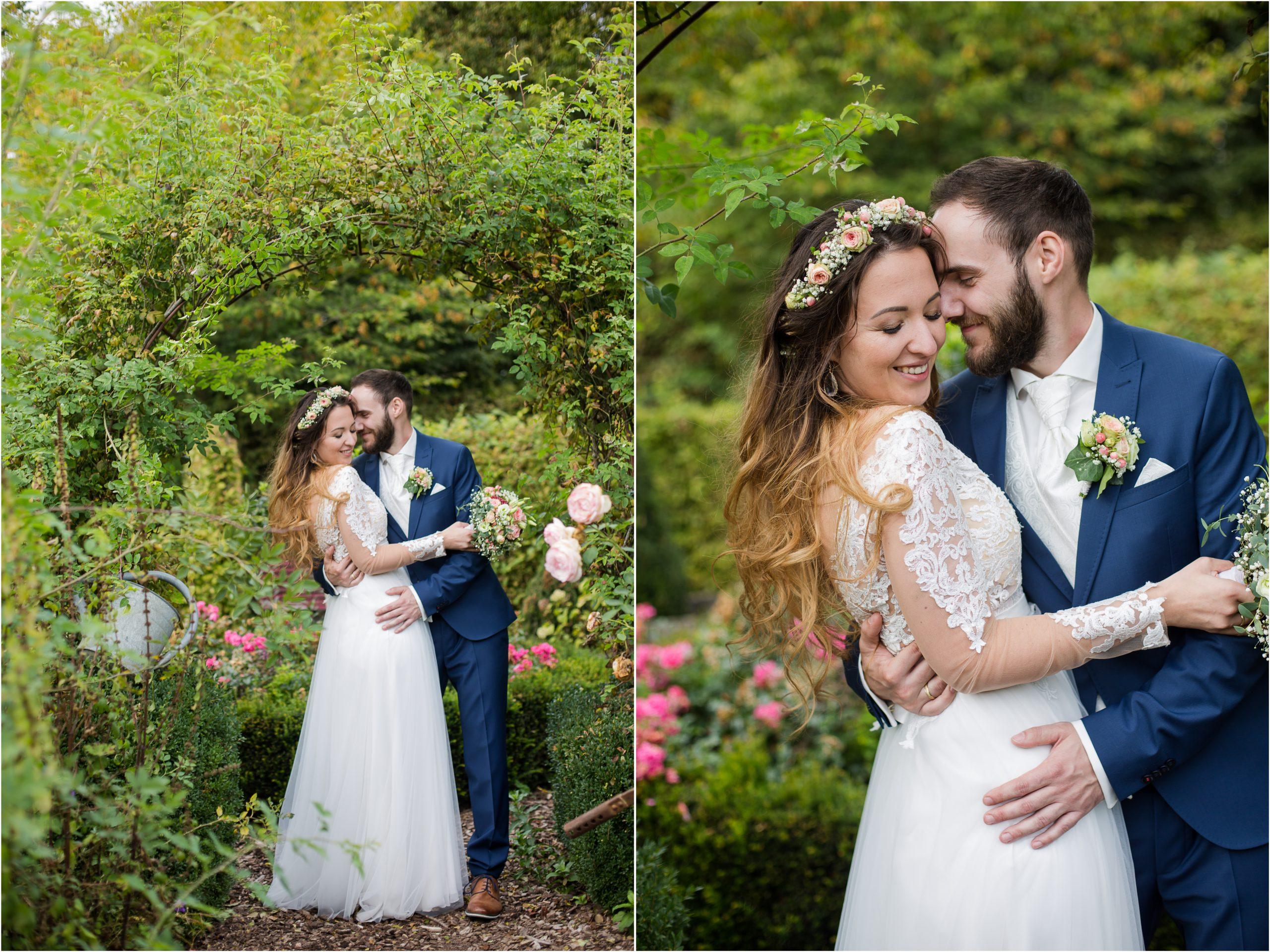 liebevolle Hochzeit im Farbkonzept Apricot