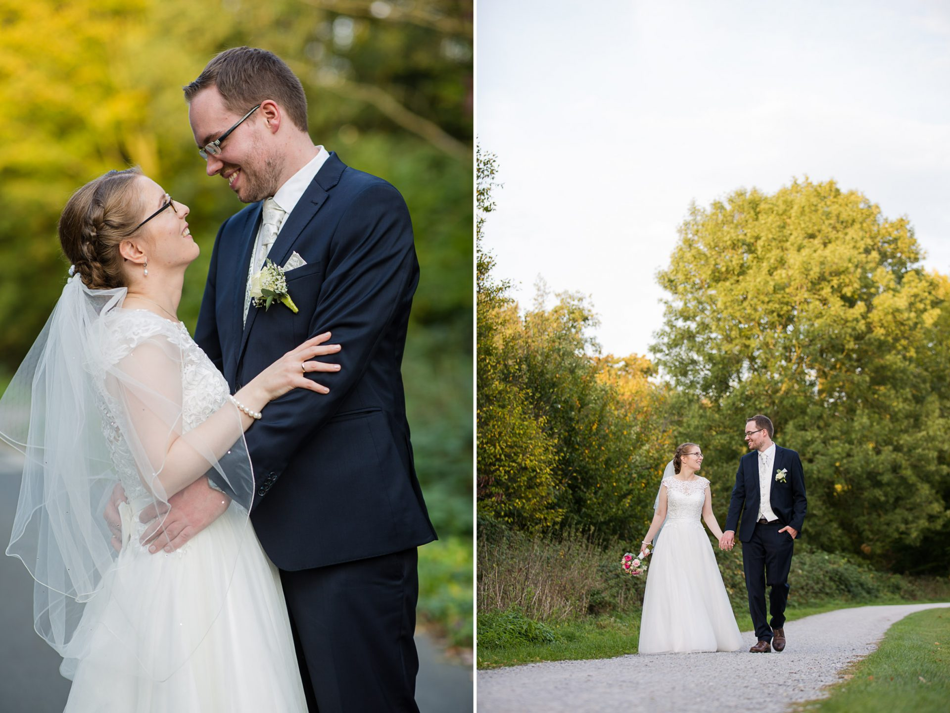 Heiraten in Münster Herbst Wienburgpark