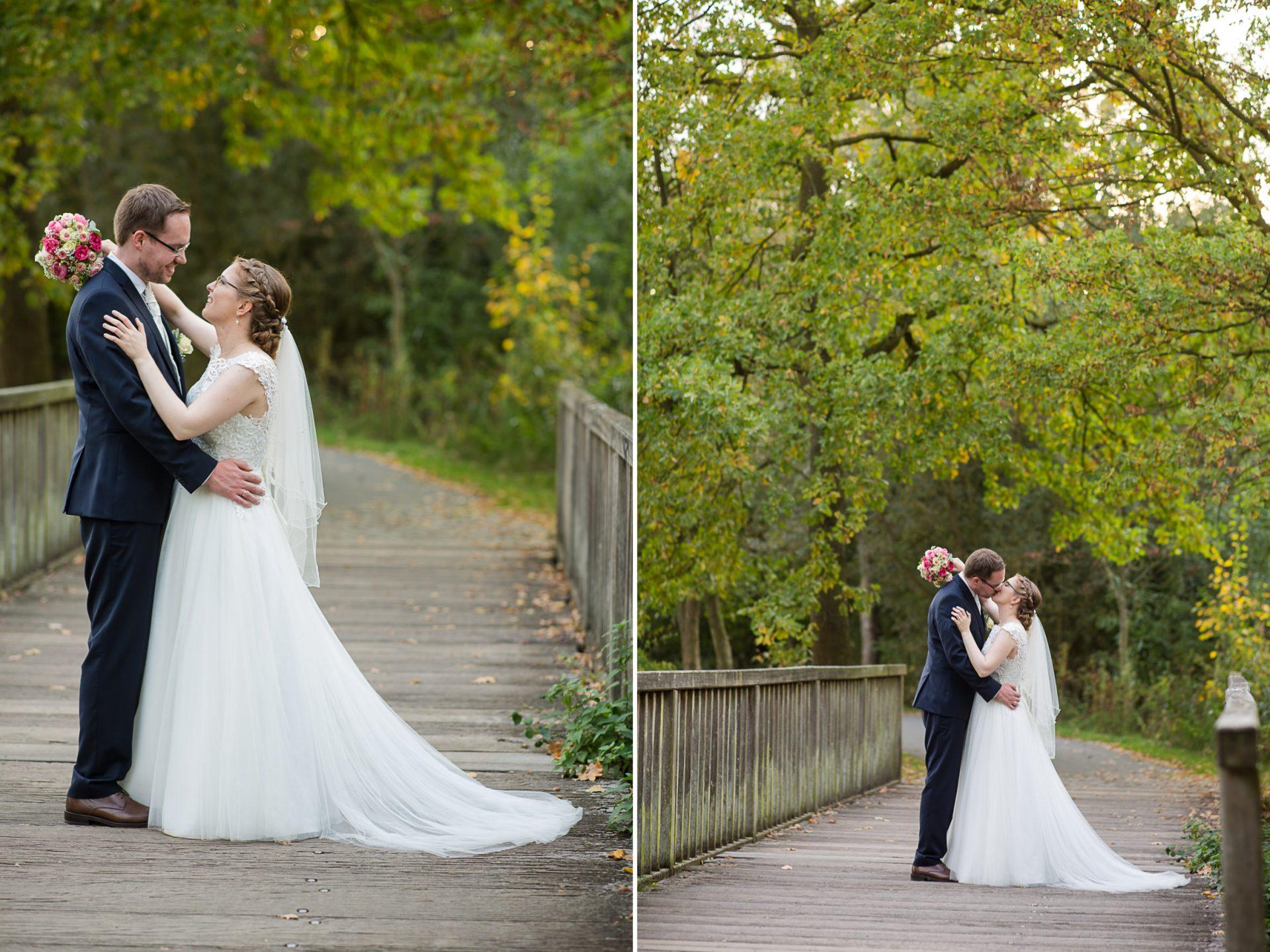Hochzeitsfoto in Münster Wienburgpark