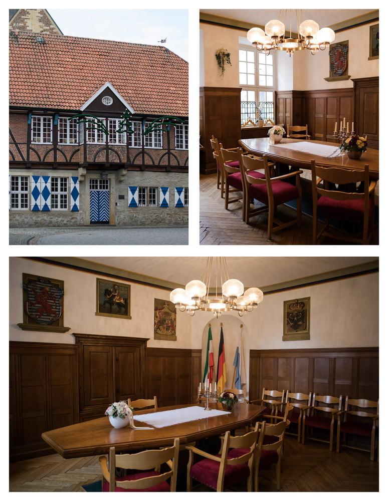 Historisches Rathaus Horstmar Kleider Saal