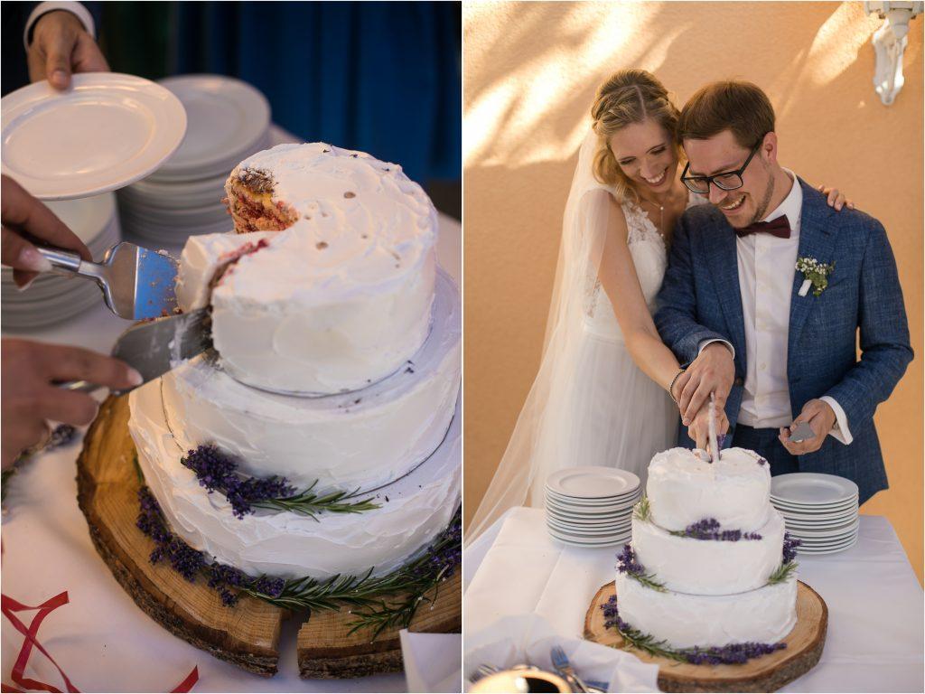 Hochzeitstorte Lavendel Idee