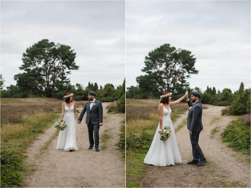 Hochzeit Paarshooting Westruper Heide Haltern