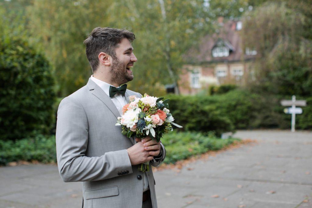 Hochzeit first look Fotografie