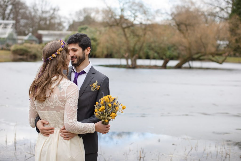 Hochzeitsfotos Botanischer Garten in Münster