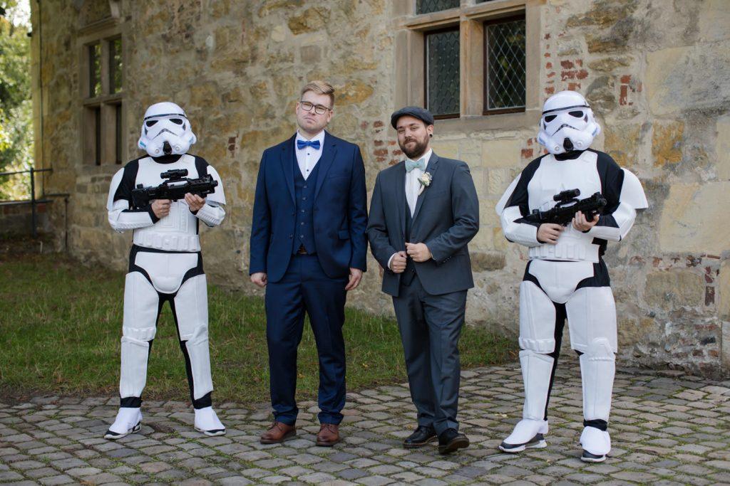 Star Wars Hochzeit Sturmtruppler Überraschung